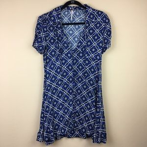 Free People Button Front Mini Dress